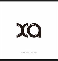 Xa initial letter split lowercase modern monogram vector