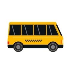 Yellow taxi bus vector