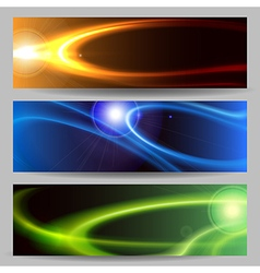Abstract Space Banner Set vector image vector image