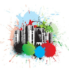 Abstract urban city vector image
