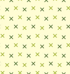 Vintage Seamless Pattern with Crosses vector image vector image