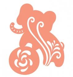baby elephant on a ball vector image