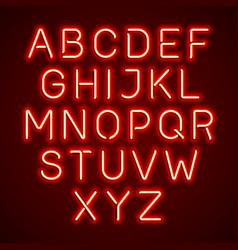 neon light glowing alphabet vector image vector image