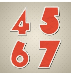 Paper figures vector image vector image