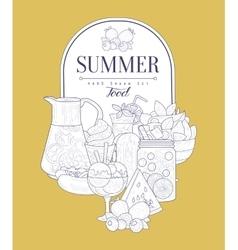 Summer Food Vintage Sketch vector image