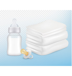 baby care accessories realistic mock up set vector image vector image