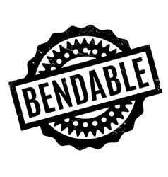 Bendable rubber stamp vector image vector image