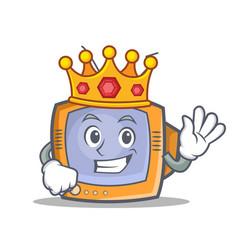 King tv character cartoon object vector