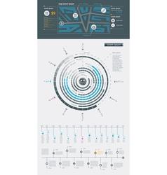 menu Infographics Elements vector image