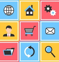 Office and web icons vector image vector image