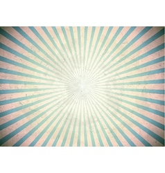 Blue vintage rays vector image