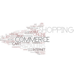 E-retailers word cloud concept vector