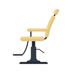 Flat barber chair logo icon isolated on white vector image vector image