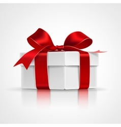 Gift with red bow vector image