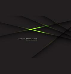 Abstract green light line on dark grey polygon vector