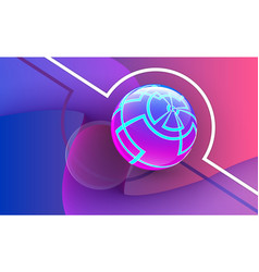 abstract sphere on multicolored background vector image
