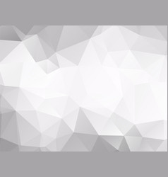 Abstract white polygonal pattern vector
