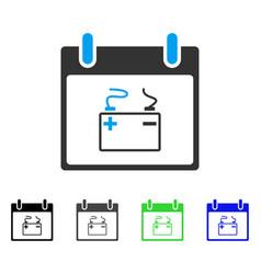 Accumulator calendar day flat icon vector