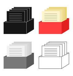 Archive icon cartoon single education icon from vector