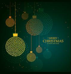 artistic creative hanging christmas balls made vector image