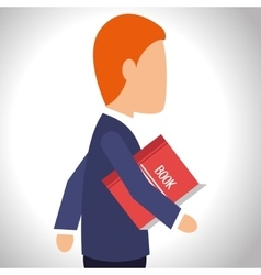 avatar man with red book vector image