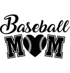 Baseball mom on white background vector