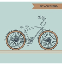 Bicycle sketch on blue vector