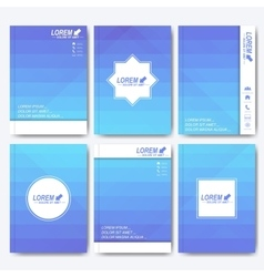 Blue templates for brochure flyer cover vector