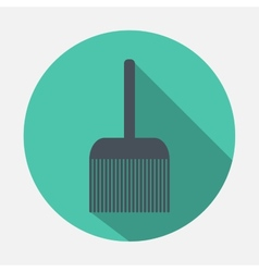 broom icon vector image