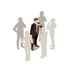 Businessman fantom crew composition vector