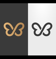 Butterfly line logo icon vector