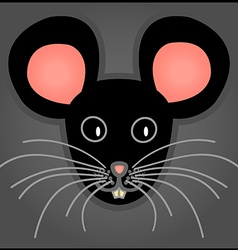 Cartoon black mouse vector
