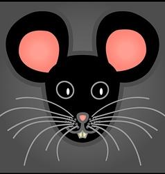 Cartoon black mouse vector image