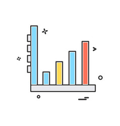 chart icon design vector image
