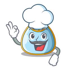 chef cartoon baby bib on a clothesline vector image