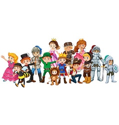 Children in stage costume vector image