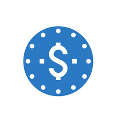 coins stack glyph icon vector image