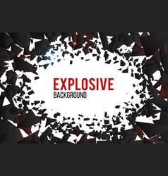 Creative crack explosion vector