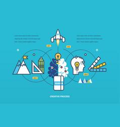 Creative process of thinking ideas inspiration vector