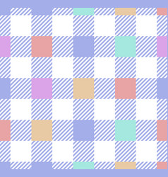 cute buffalo check pattern in pastel pink blue vector image