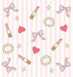 cute pink pastel girly background 2 vector image