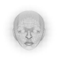 cyber mind brain vector image