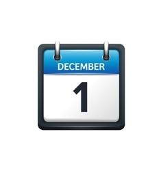 December 1 Calendar icon flat vector