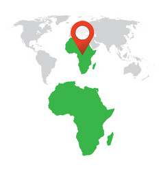 Detailed map of africa and world map navigation vector