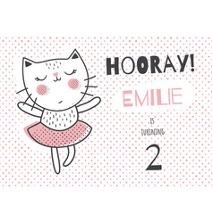 Emilie ballerina cat vector