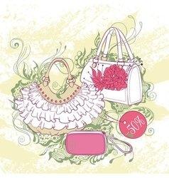 Fashion of various handbags vector