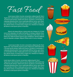 Fast food poster or infographics template vector