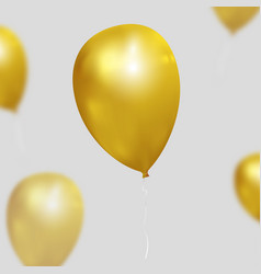festive background with gold balloons vector image