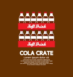 Flat Design Cola Crate Stack vector