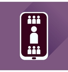 Flat icon with long shadow mobile phone vector